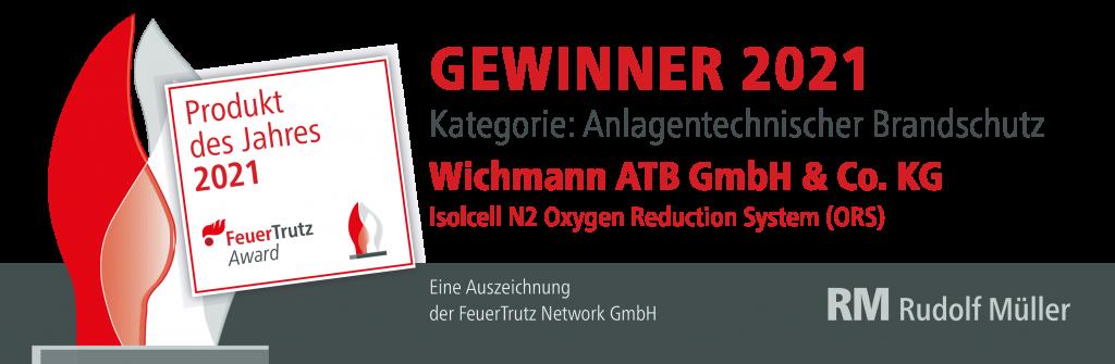 2021 Gewinner Feuertrutz Produkt des Jahres Wichmann Sauerstoffreduktion